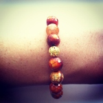 Sedona Orange Agate Mala Bracelet. You can find it here